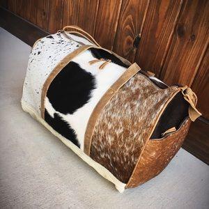 Cowhide Duffle Bag Myra